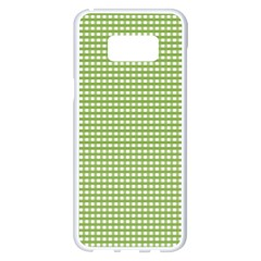 Gingham Check Plaid Fabric Pattern Samsung Galaxy S8 Plus White Seamless Case
