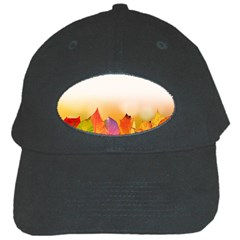 Autumn Leaves Colorful Fall Foliage Black Cap by Nexatart