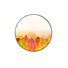 Autumn Leaves Colorful Fall Foliage Hat Clip Ball Marker (4 Pack) by Nexatart