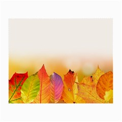 Autumn Leaves Colorful Fall Foliage Small Glasses Cloth (2 Side) by Nexatart