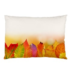 Autumn Leaves Colorful Fall Foliage Pillow Case by Nexatart