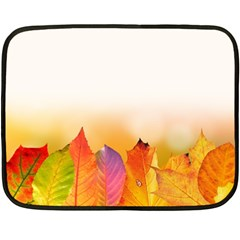 Autumn Leaves Colorful Fall Foliage Double Sided Fleece Blanket (mini)  by Nexatart