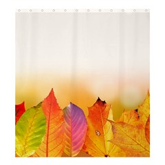 Autumn Leaves Colorful Fall Foliage Shower Curtain 66  X 72  (large)  by Nexatart