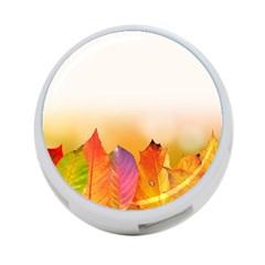 Autumn Leaves Colorful Fall Foliage 4 Port Usb Hub (two Sides)  by Nexatart