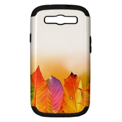 Autumn Leaves Colorful Fall Foliage Samsung Galaxy S Iii Hardshell Case (pc+silicone) by Nexatart
