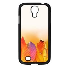 Autumn Leaves Colorful Fall Foliage Samsung Galaxy S4 I9500/ I9505 Case (black) by Nexatart