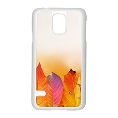 Autumn Leaves Colorful Fall Foliage Samsung Galaxy S5 Case (white) by Nexatart