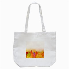 Autumn Leaves Colorful Fall Foliage Tote Bag (white) by Nexatart