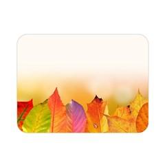 Autumn Leaves Colorful Fall Foliage Double Sided Flano Blanket (mini)  by Nexatart