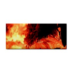 Fire Log Heat Texture Cosmetic Storage Cases by Nexatart