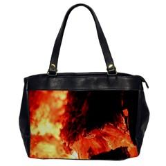 Fire Log Heat Texture Office Handbags by Nexatart