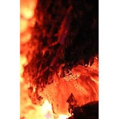 Fire Log Heat Texture 5 5  X 8 5  Notebooks by Nexatart