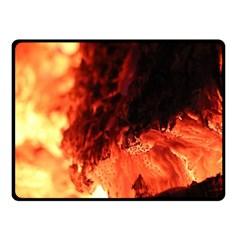 Fire Log Heat Texture Fleece Blanket (small) by Nexatart