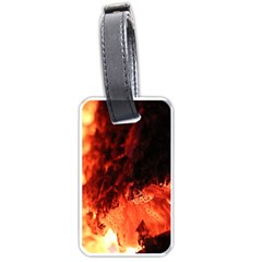 Fire Log Heat Texture Luggage Tags (one Side)  by Nexatart