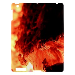 Fire Log Heat Texture Apple Ipad 3/4 Hardshell Case by Nexatart