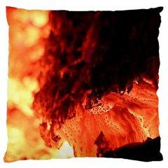 Fire Log Heat Texture Large Cushion Case (one Side) by Nexatart