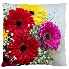 Flowers Gerbera Floral Spring Large Cushion Case (one Side) by Nexatart