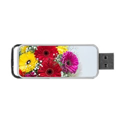 Flowers Gerbera Floral Spring Portable Usb Flash (two Sides) by Nexatart
