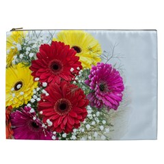 Flowers Gerbera Floral Spring Cosmetic Bag (xxl)  by Nexatart