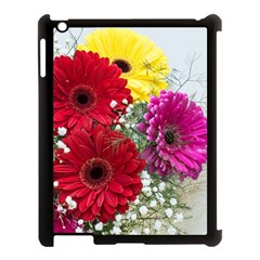 Flowers Gerbera Floral Spring Apple Ipad 3/4 Case (black) by Nexatart