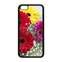 Flowers Gerbera Floral Spring Apple Iphone 5c Seamless Case (black) by Nexatart