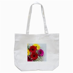 Flowers Gerbera Floral Spring Tote Bag (white) by Nexatart