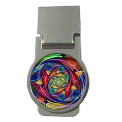 Eye Of The Rainbow Money Clips (round)  by WolfepawFractals
