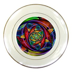 Eye Of The Rainbow Porcelain Plates by WolfepawFractals