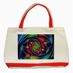 Eye Of The Rainbow Classic Tote Bag (red) by WolfepawFractals