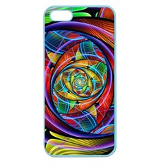 Eye Of The Rainbow Apple Seamless Iphone 5 Case (color) by WolfepawFractals