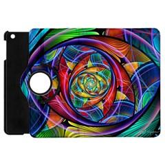 Eye Of The Rainbow Apple Ipad Mini Flip 360 Case by WolfepawFractals