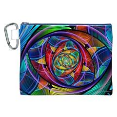 Eye Of The Rainbow Canvas Cosmetic Bag (xxl) by WolfepawFractals