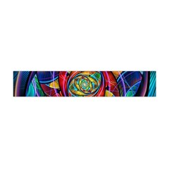 Eye Of The Rainbow Flano Scarf (mini) by WolfepawFractals