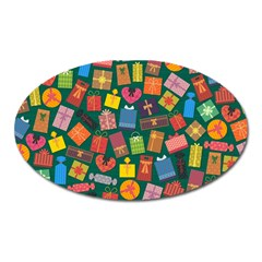 Presents Gifts Background Colorful Oval Magnet by Nexatart