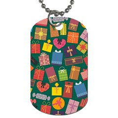 Presents Gifts Background Colorful Dog Tag (two Sides) by Nexatart
