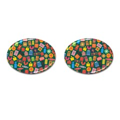 Presents Gifts Background Colorful Cufflinks (oval) by Nexatart