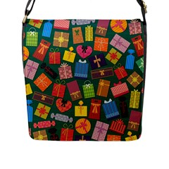 Presents Gifts Background Colorful Flap Messenger Bag (l)  by Nexatart