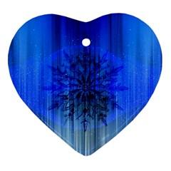 Background Christmas Star Ornament (heart) by Nexatart