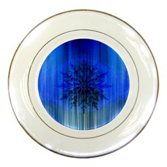 Background Christmas Star Porcelain Plates