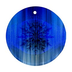 Background Christmas Star Round Ornament (two Sides) by Nexatart