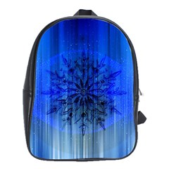 Background Christmas Star School Bags(large)  by Nexatart