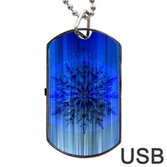 Background Christmas Star Dog Tag Usb Flash (one Side) by Nexatart