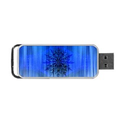 Background Christmas Star Portable Usb Flash (two Sides) by Nexatart