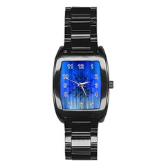 Background Christmas Star Stainless Steel Barrel Watch by Nexatart