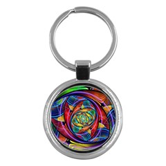 Eye Of The Rainbow Key Chains (round)  by WolfepawFractals