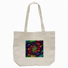 Eye Of The Rainbow Tote Bag (cream) by WolfepawFractals