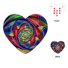 Eye Of The Rainbow Playing Cards (heart)  by WolfepawFractals