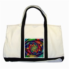 Eye Of The Rainbow Two Tone Tote Bag by WolfepawFractals