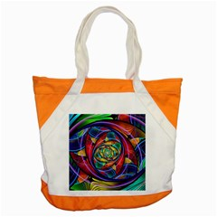 Eye Of The Rainbow Accent Tote Bag by WolfepawFractals
