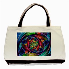 Eye Of The Rainbow Basic Tote Bag (two Sides) by WolfepawFractals